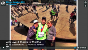 Image of a video clip of the Chicago Marathon