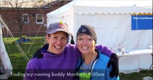 Martha and Angela, NYC Marathon, 2010