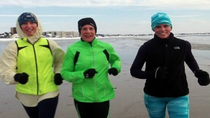 Karen, me and the mighty KB on one of the coldest runs of my life, February 2015, training run for the Virgin Money London Marathon.